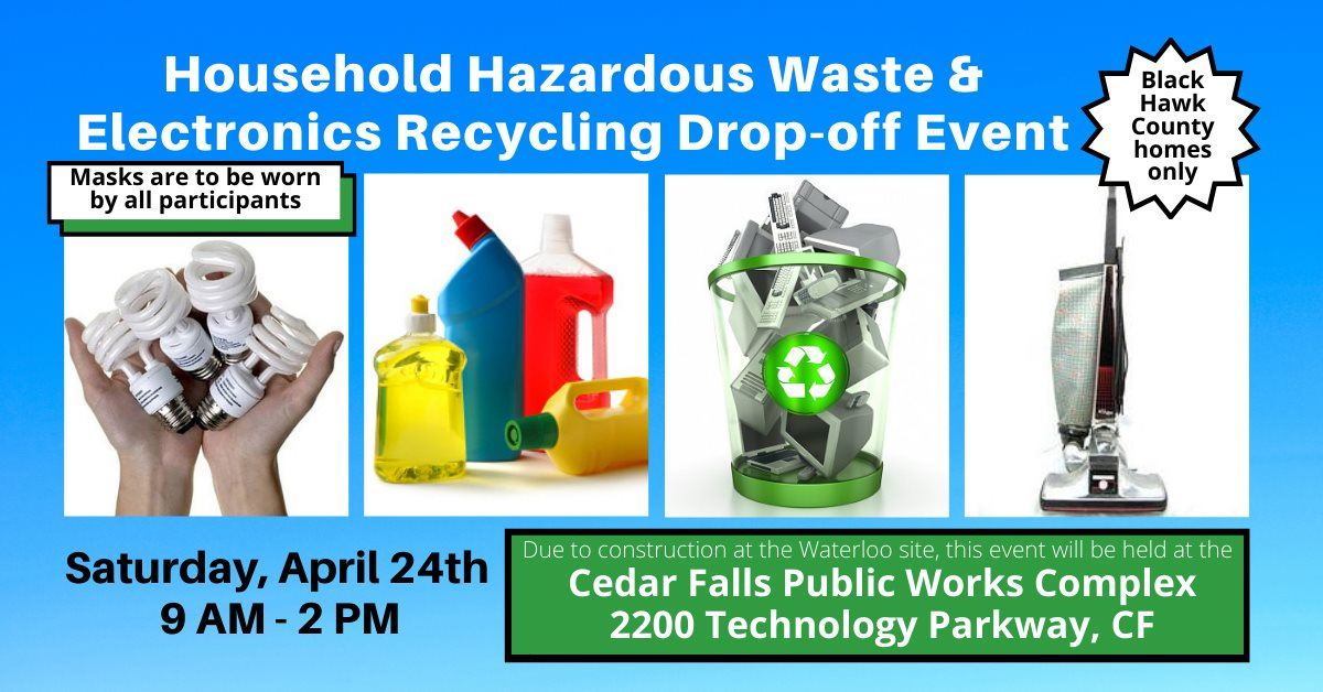 Household waste graphic with event time
