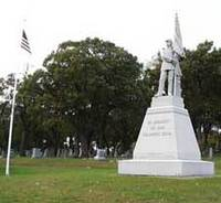 Greenwood Cemetery soldier statue