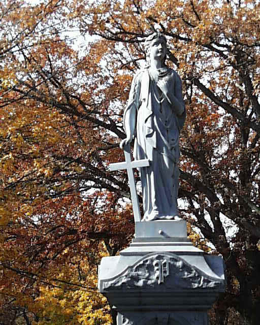 Statue in Greenwood Cemetery