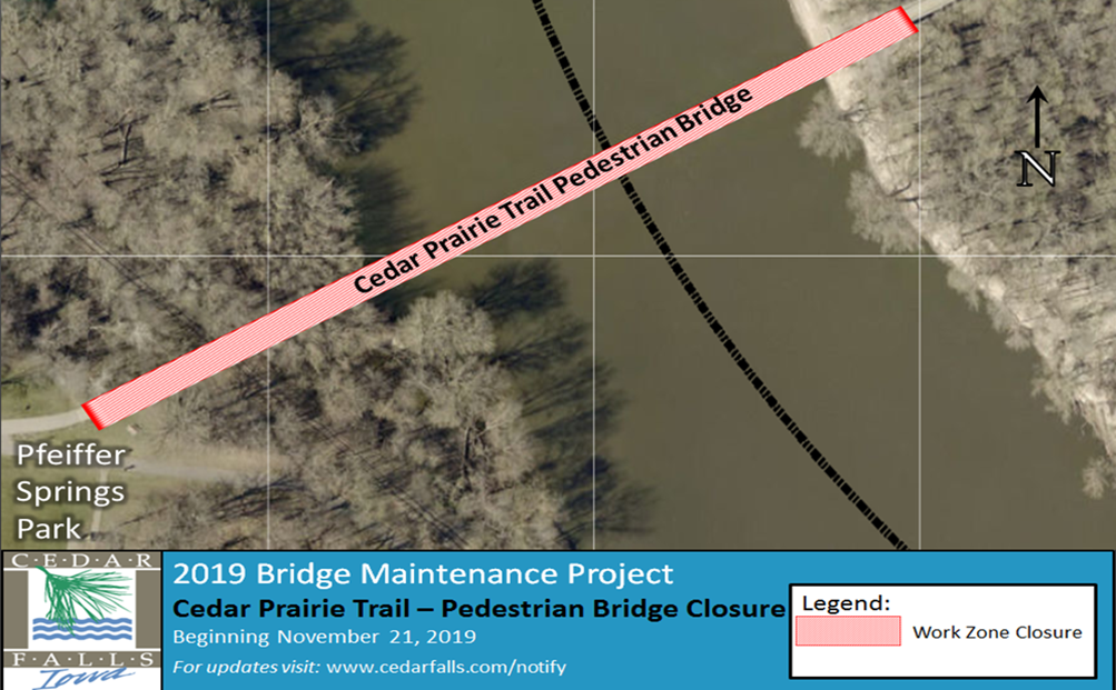 Cedar Prairie Trail Pedestrian Bridge Closure