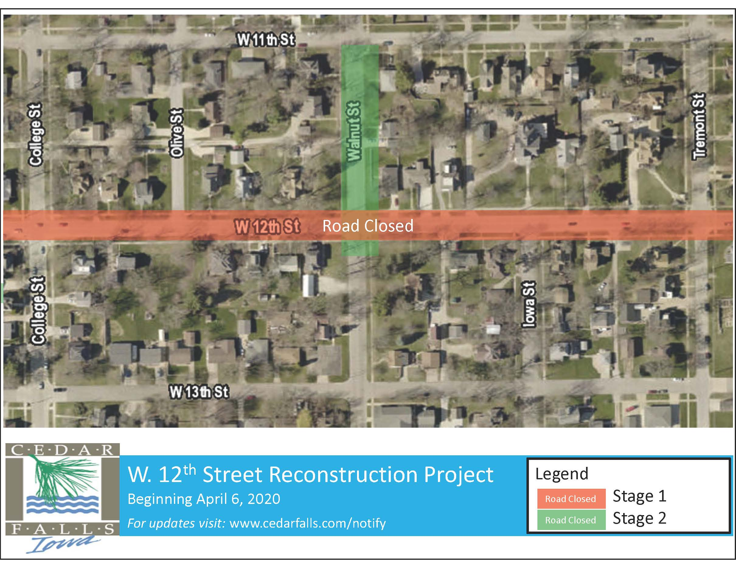 12th Street - Stage 1 Closure