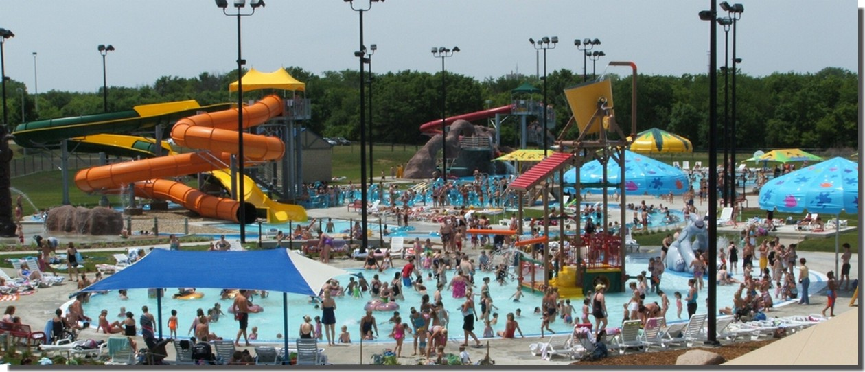 The Falls Aquatic Center Overhead View